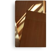 Wood Panel Shadowed Abstract Canvas Print