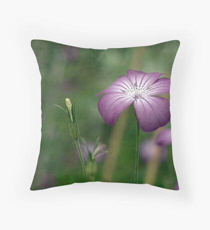 Corncockle Throw Pillow
