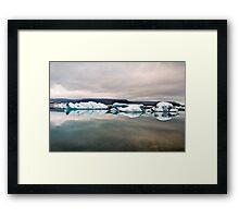 Glacier Lagoon August 2009 #1 Framed Print