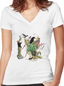 OBSERVATION Women's Fitted V-Neck T-Shirt