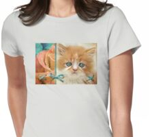 Raindrops on Roses and Whiskers on Kittens Womens Fitted T-Shirt