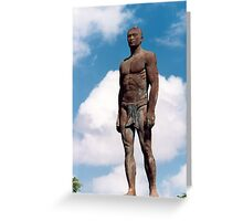 Statue of chief Quipuha Greeting Card