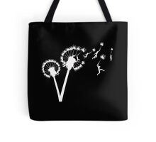 Dandylion Flight - white silhouette Tote Bag