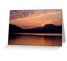 Ruby Lake Sunset Greeting Card