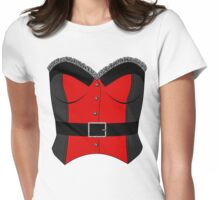 Red Corset Womens Fitted T-Shirt