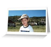 My grandson at the mountains Greeting Card