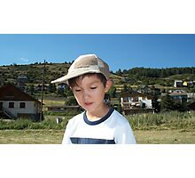 My grandson at the mountains Photographic Print