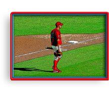 Pre-game Baseball Image #3 Canvas Print