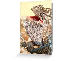 The Singing Chameleon Greeting Card
