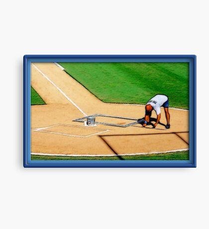 Pre-game Baseball Image #4 Canvas Print
