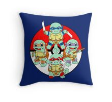 Ninja Squirtle Throw Pillow