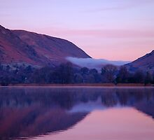 Mist over Grasmere village by JMChown