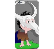 Drawing child funny Capricorn goat skull iPhone Case/Skin