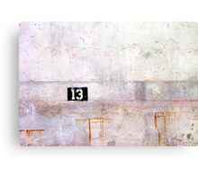 13 Canvas Print