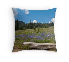 Sit Among the Lupine Throw Pillow