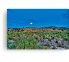 Moon over the desert Canvas Print