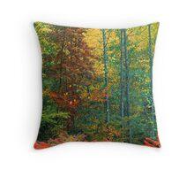 SUMAC AND HARDWOOD FOREST Throw Pillow