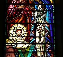 Birth of Jesus - in a church in Vichy, France by bubblehex08