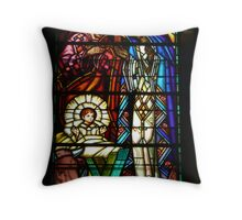 Birth of Jesus - in a church in Vichy, France Throw Pillow