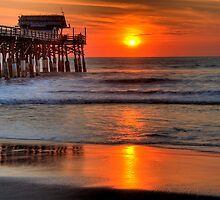 Cocoa Beach Pier at Sunrise by Phillip Mangels