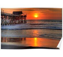 Cocoa Beach Pier at Sunrise Poster