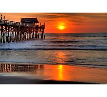 Cocoa Beach Pier at Sunrise Photographic Print