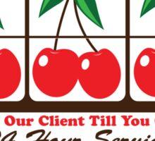 Cherry Bailbonds Sticker
