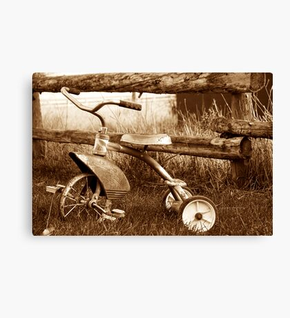 Antique Tricycle Canvas Print