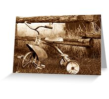 Antique Tricycle Greeting Card