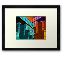 Sunset City Framed Print