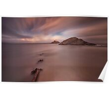 Sunset on Mumbles lighthouse Poster