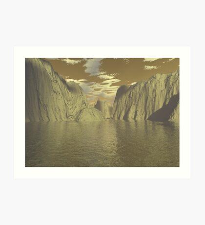 3d landscape Art Print