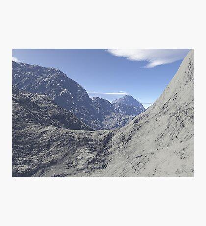 Mountainous landscape Photographic Print