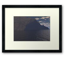 landscape in 3d Framed Print