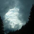 As evening and the storm came into North Bend, Washington by DonnaMoore