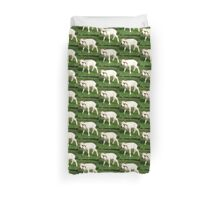 A Newborn Lamb Finding Its Feet Duvet Cover