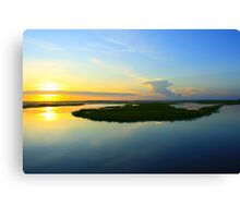 Sunset over the Horizon Canvas Print