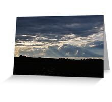 Clouds and Rays Greeting Card