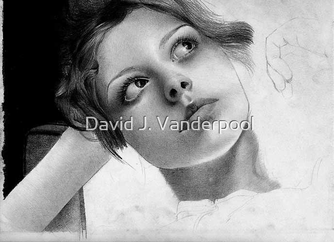 Eyes - In progress 10 by David J. Vanderpool