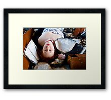 Emersed in Reading Framed Print