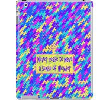 Never Cease to Have a Sense of Wonder_Triangle Design1 iPad Case/Skin