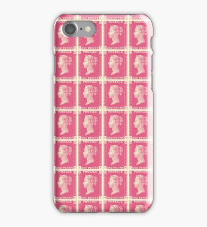 Block of Penny Black stamps in pink iPhone Case/Skin