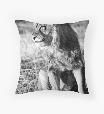 Panthera Leo Throw Pillow