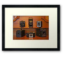 Old Brownie Cameras Framed Print