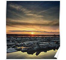 Ice drift, Siberia Poster