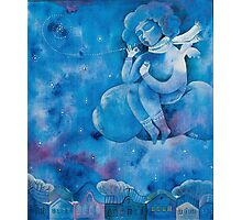 Angel of first snow Photographic Print