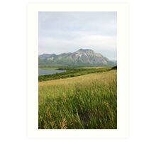 View from Middle Waterton Lake Art Print