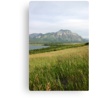 View from Middle Waterton Lake Canvas Print