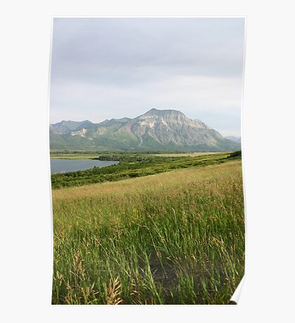View from Middle Waterton Lake Poster