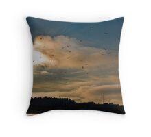 Flocking Seagulls!  Throw Pillow